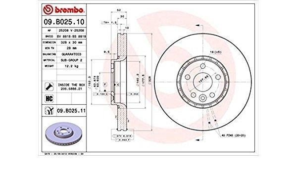 Преден дисПреден диск BREMBO 09.B025.10 328мм Volvo XC60 D5 дизел9.B025.10 328мм Volvo XC60 D5 дизел